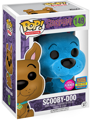 Funko Pop! Animation Scooby-Doo (Flocked) - Blue Stock