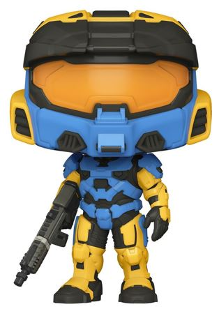 Funko Pop! Halo Spartan Mark VII with VK78 Commando Rifle ( Yellow Blue) Icon