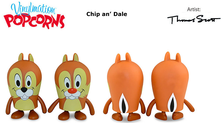 Vinylmation Open And Misc Popcorns Chip & Dale