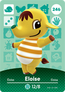 Amiibo Cards Animal Crossing Series 3 Eloise