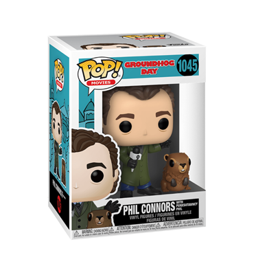 Funko Pop! Movies Phil Connors With Punxsutawney Phil Stock