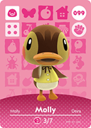Amiibo Cards Animal Crossing Series 1 Molly
