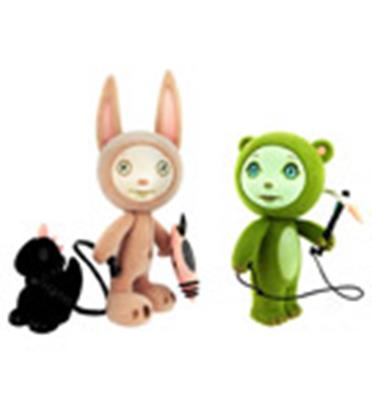 Kid Robot Art Figures Ace and Ion Stock