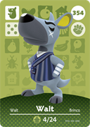 Amiibo Cards Animal Crossing Series 4 Walt