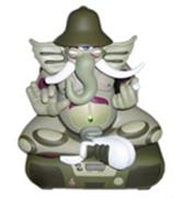 Kid Robot Art Figures Green Ganesh