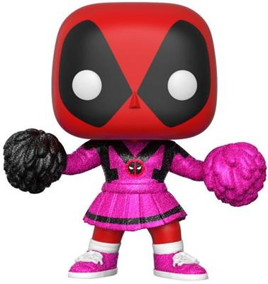 Funko Pop! Marvel Deadpool (Cheerleader) - Pink Glitter