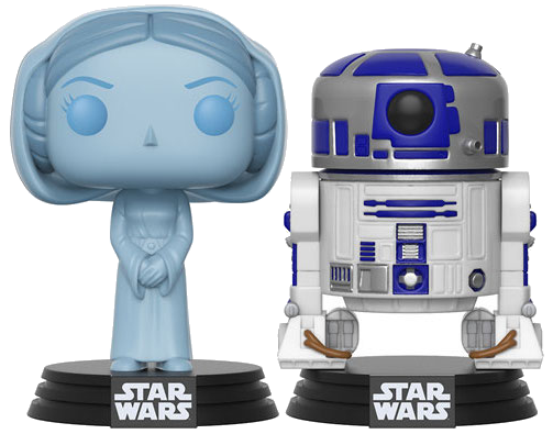 Funko Pop! Star Wars Princess Leia (Holographic) & R2-D2