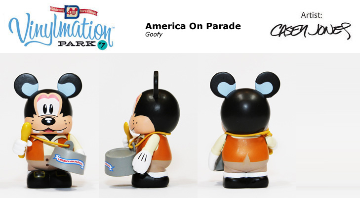 Vinylmation Open And Misc Park 7 America on Parade: Goofy