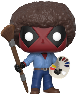 Funko Pop! Marvel Deadpool as Bob Ross