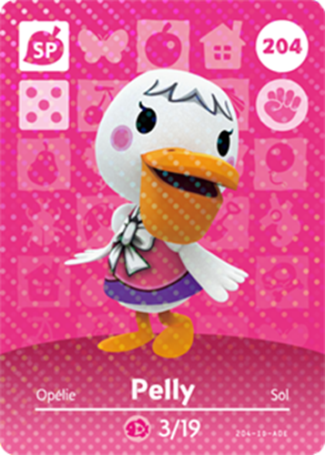 Amiibo Cards Animal Crossing Series 3 Pelly