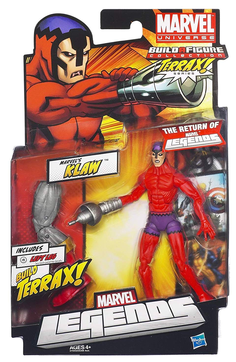Marvel Legends Terrax Series Klaw