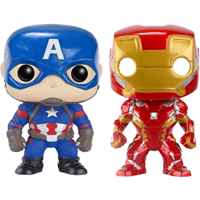 Funko Pop! Marvel Captain America & Iron Man (Civil War) (2-Pack)