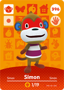 Amiibo Cards Animal Crossing Series 4 Simon
