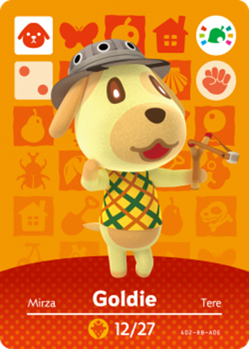 Amiibo Cards Animal Crossing Promotional Cards Goldie Icon