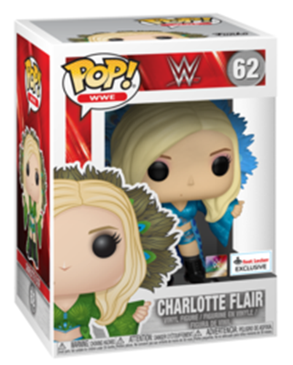 Funko Pop! Wrestling Charlotte Flair FootLocker Blue Stock