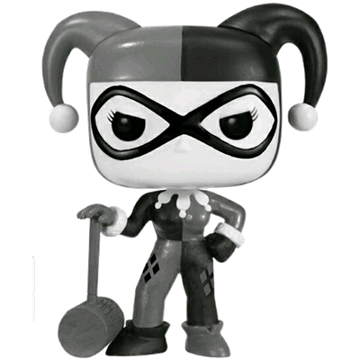 Funko Pop! Heroes Harley Quinn with Mallet (Black & White)