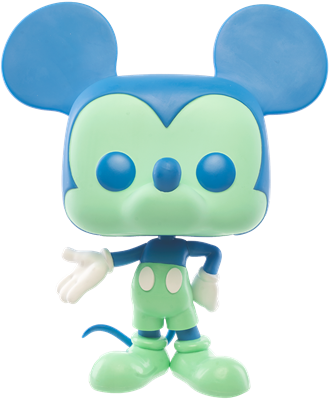 Funko Pop! Disney Mickey Mouse (Colorway - Blue/Green) - 10""