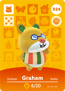 Amiibo Cards Animal Crossing Series 4 Graham
