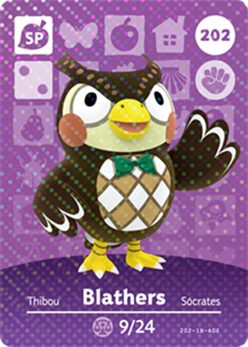 Amiibo Cards Animal Crossing Series 3 Blathers