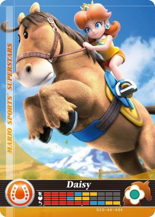 Amiibo Cards Mario Sports Superstars Daisy - Horse Racing Icon