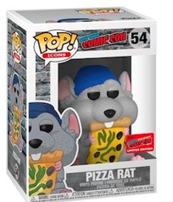Funko Pop! Icons Pizza Rat with Blue Hat Stock