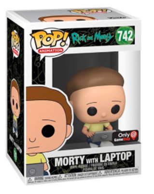 Funko Pop! Animation Morty with Laptop  Stock