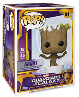 "Funko Pop! Marvel Groot (18"") Stock"