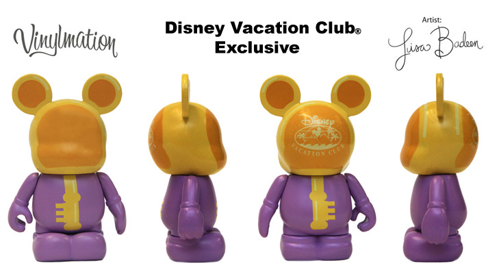 Vinylmation Open And Misc Disney Vacation Club Yellow Areas Key