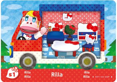 Amiibo Cards Animal Crossing X Sanrio Rilla - Hello Kitty (Europe)