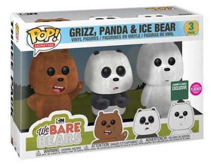 Funko Pop! Animation Grizz, panda & Ice Bear (3-Pack) Stock