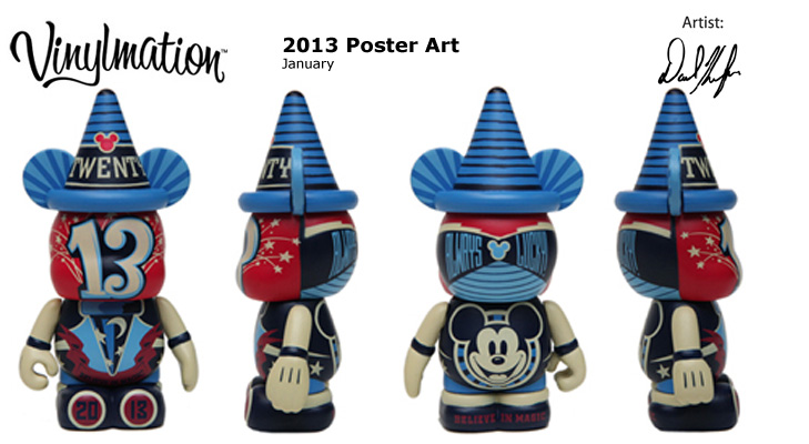 Vinylmation Open And Misc 2013 Poster Art January 'Always Lucky'