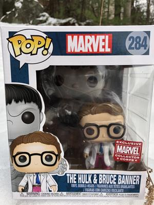 Funko Pop! Marvel Hulk and Bruce Banner Stock