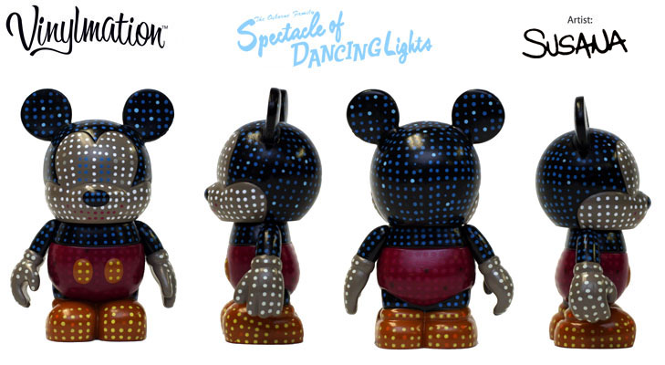 Vinylmation Open And Misc Holiday 2010 Osborne Dancing Lights 'spectacle'