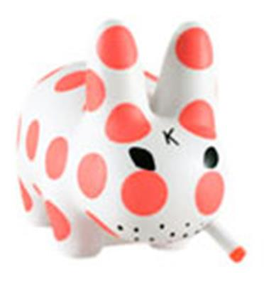 Kid Robot Labbits Neon Orange Polka Dot