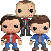 Funko Pop! Television Sam, Dean & Crowley (Bloody)