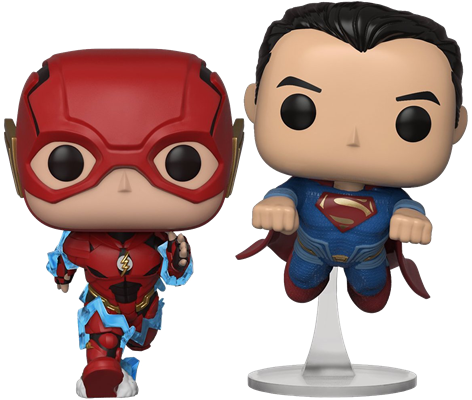 Funko Pop! Heroes The Flash & Superman (Racing) Icon