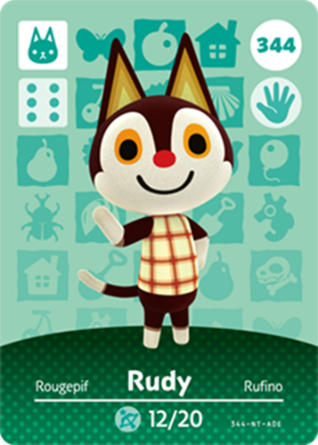 Amiibo Cards Animal Crossing Series 4 Rudy
