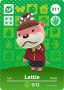 Amiibo Cards Animal Crossing Series 4 Lottie
