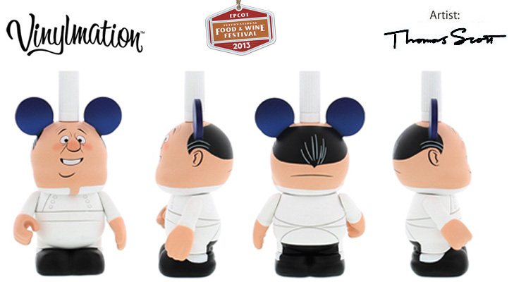 Vinylmation Open And Misc Holiday 2013 Epcot Food & Wine Festival 'Gusteau'