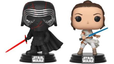 Funko Pop! Star Wars Kylo Ren Supreme Leader & Rey (2-Pack)