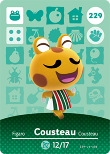 Amiibo Cards Animal Crossing Series 3 Cousteau