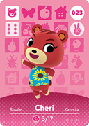 Amiibo Cards Animal Crossing Series 1 Cheri