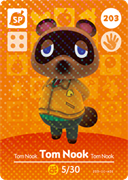 Amiibo Cards Animal Crossing Series 3 Tom Nook