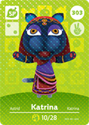 Amiibo Cards Animal Crossing Series 4 Katrina
