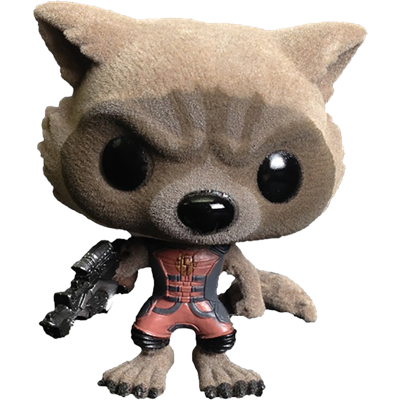 Funko Pop! Marvel Rocket Raccoon (Ravagers Uniform) (Flocked) Icon