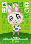 Amiibo Cards Animal Crossing Series 3 Chrissy