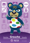 Amiibo Cards Animal Crossing Series 2 Groucho