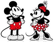 FiGPin Mickey Mouse & Friends Mickey Mouse & Minnie Mouse Glitter (2-pack)