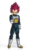 FiGPin Dragon Ball Super Super Saiyan God Vegeta