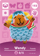 Amiibo Cards Animal Crossing Series 2 Wendy
